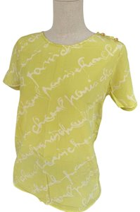 Chanel T Shirt lime green