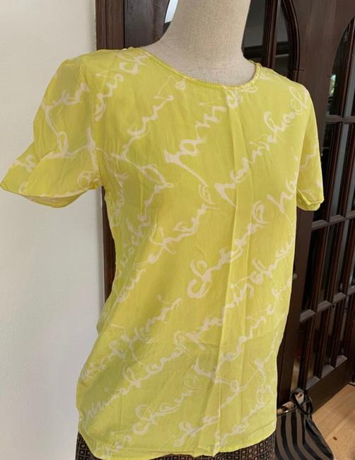 Chanel T Shirt lime green Image 4