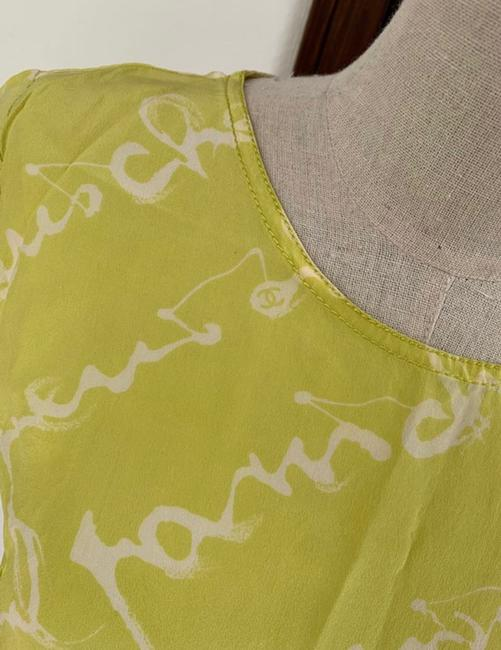 Chanel T Shirt lime green Image 7
