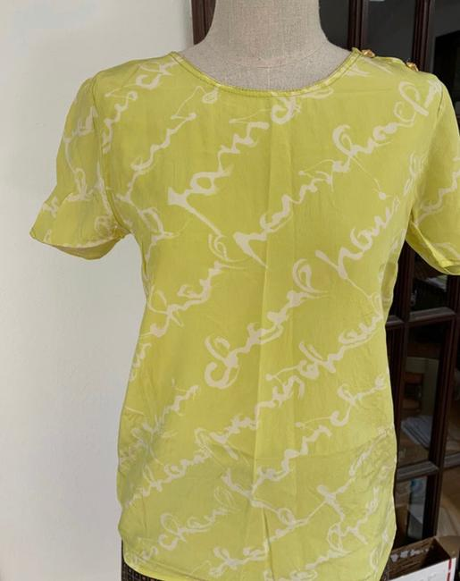 Chanel T Shirt lime green Image 9