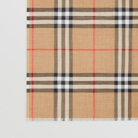 Burberry Giant Check Gauze Scarf Image 1