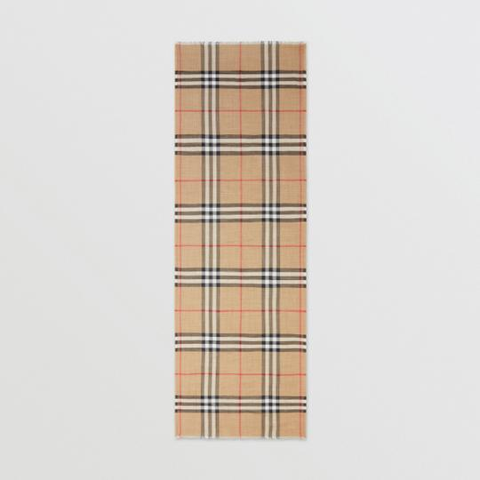 Burberry Giant Check Gauze Scarf Image 2