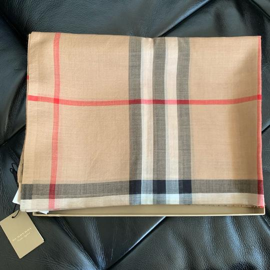 Burberry Giant Check Gauze Scarf Image 5