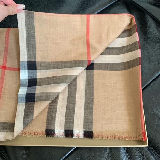 Burberry Giant Check Gauze Scarf Image 6