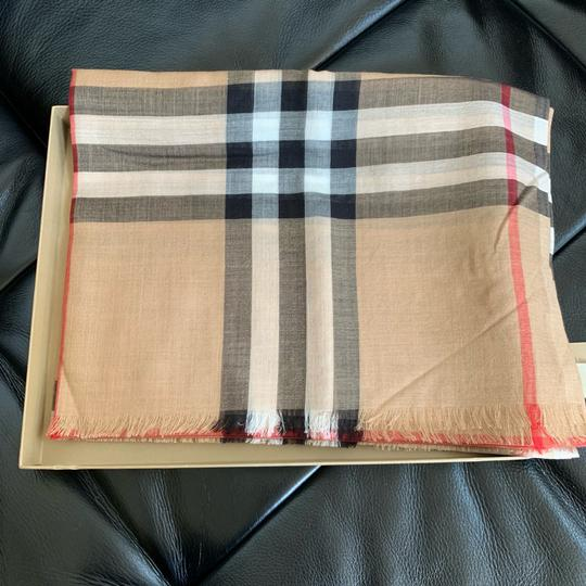 Burberry Giant Check Gauze Scarf Image 7