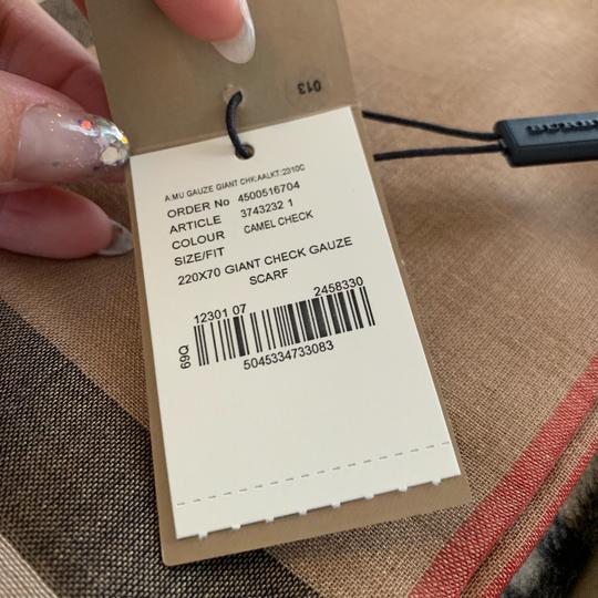Burberry Giant Check Gauze Scarf Image 9