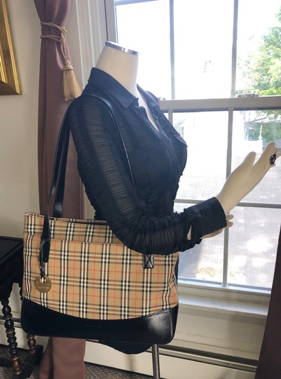 Burberry Plaid Shoulder Tote in Multi Image 1