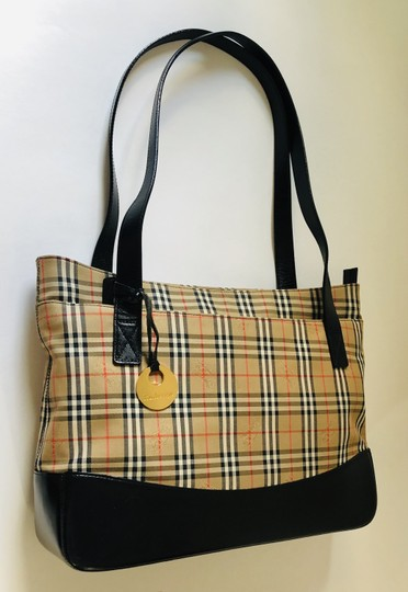 Burberry Plaid Shoulder Tote in Multi Image 2