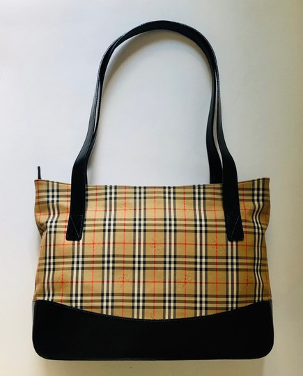 Burberry Plaid Shoulder Tote in Multi Image 3