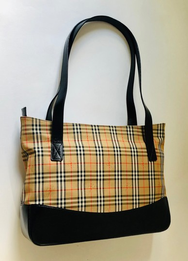 Burberry Plaid Shoulder Tote in Multi Image 4