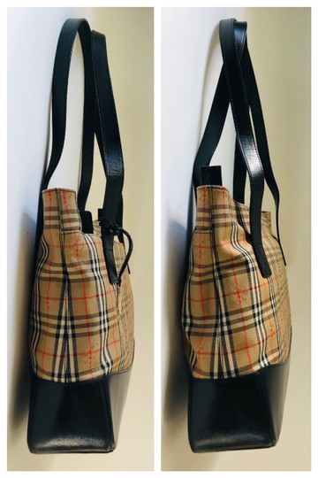 Burberry Plaid Shoulder Tote in Multi Image 5
