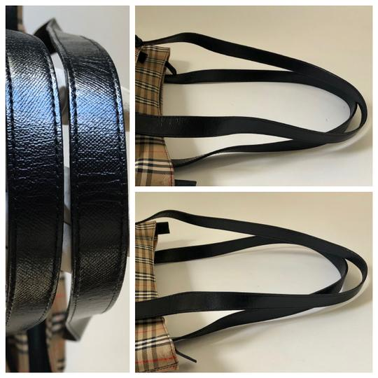 Burberry Plaid Shoulder Tote in Multi Image 6