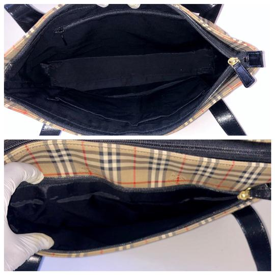 Burberry Plaid Shoulder Tote in Multi Image 8