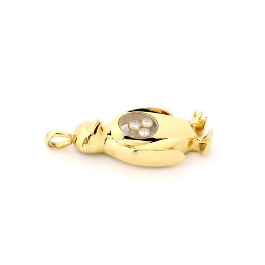 Chopard Happy Diamond 18k Yellow Gold Dangle Penguin Charm Safety Pin Brooch Image 1