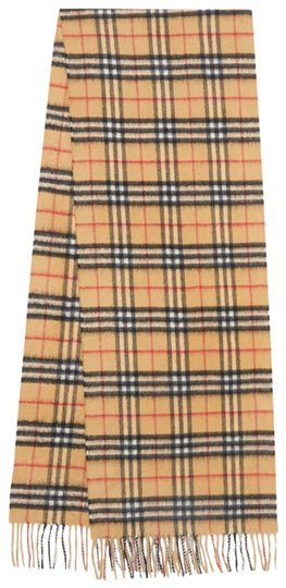 Preload https://img-static.tradesy.com/item/26031741/burberry-antique-yellow-the-classic-vintage-check-cashmere-scarfwrap-0-2-540-540.jpg