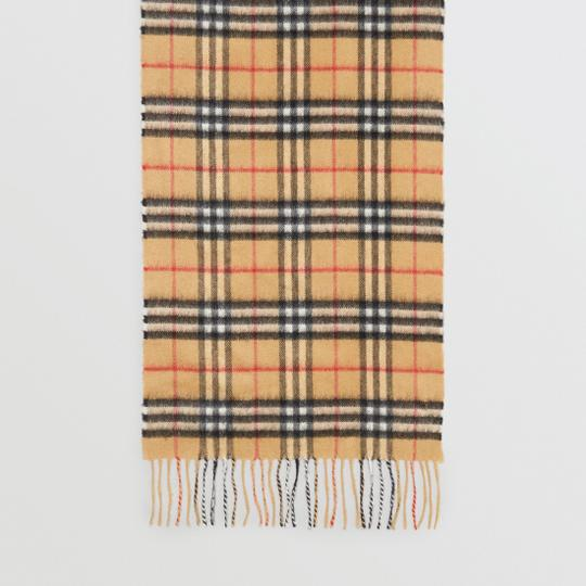 Burberry The Classic Vintage Check Cashmere Scarf Image 1