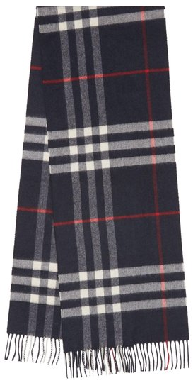 Preload https://img-static.tradesy.com/item/26031774/burberry-navy-the-classic-vintage-check-cashmere-scarfwrap-0-2-540-540.jpg