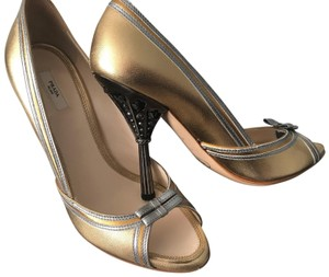 Prada gold with silver piping Formal
