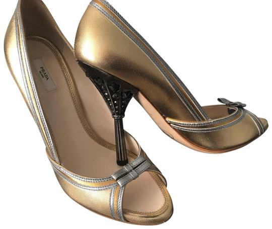 Preload https://img-static.tradesy.com/item/26031833/prada-gold-with-silver-piping-crystal-plantino-heel-formal-shoes-size-eu-37-approx-us-7-regular-m-b-0-3-540-540.jpg