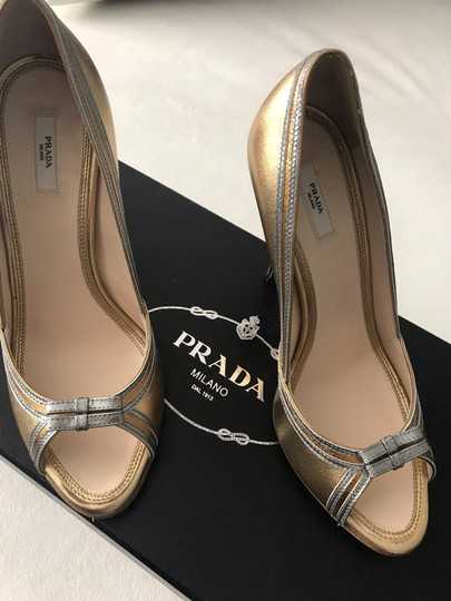 Prada gold with silver piping Formal Image 1