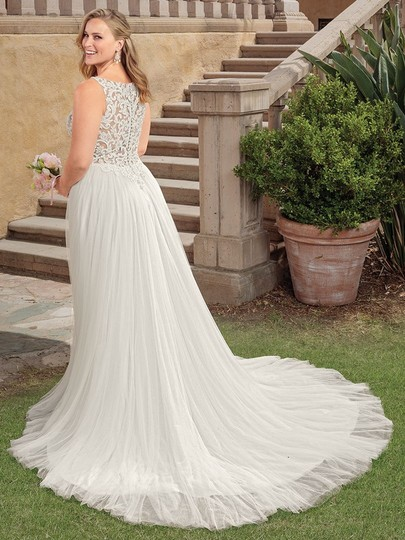 Casablanca Ivory Nude Lace Applique and Tulle 2310 Della Modern Wedding Dress Size 24 (Plus 2x) Image 3