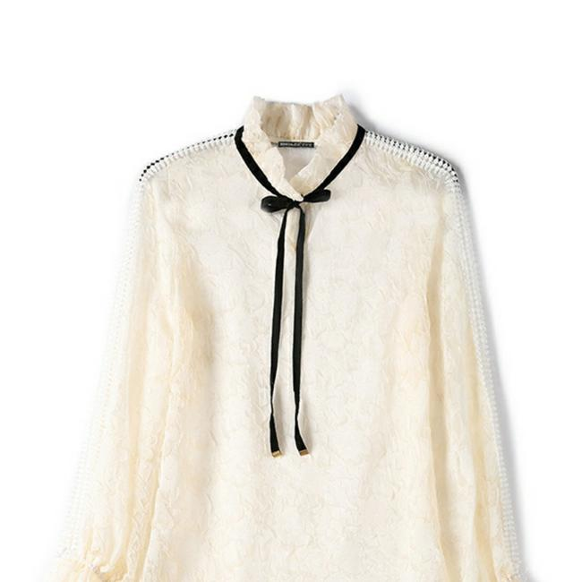 Metisu Top Cream and black Image 0