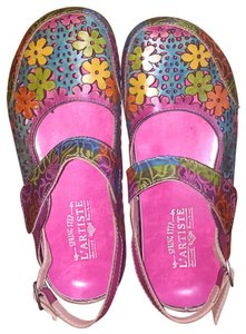 Spring Step Multi colored Mules