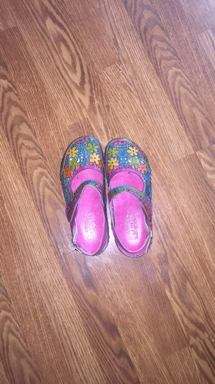 Spring Step Multi colored Mules Image 3