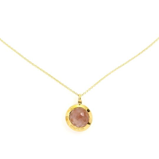 Ippolita Rock Candy Diamond Shell Cameo Flower 18k Yellow Gold Pendant Image 2