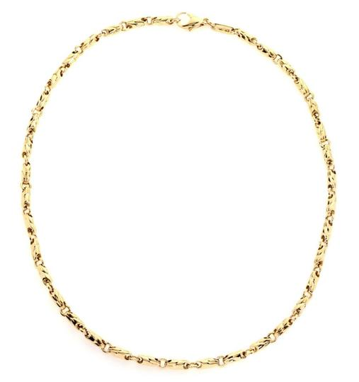 BVLGARI 18k Yellow Gold 3.5mm Fancy Link Chain Necklace Image 1