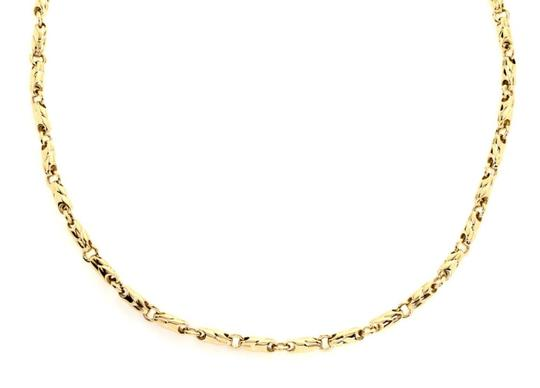 BVLGARI 18k Yellow Gold 3.5mm Fancy Link Chain Necklace Image 2