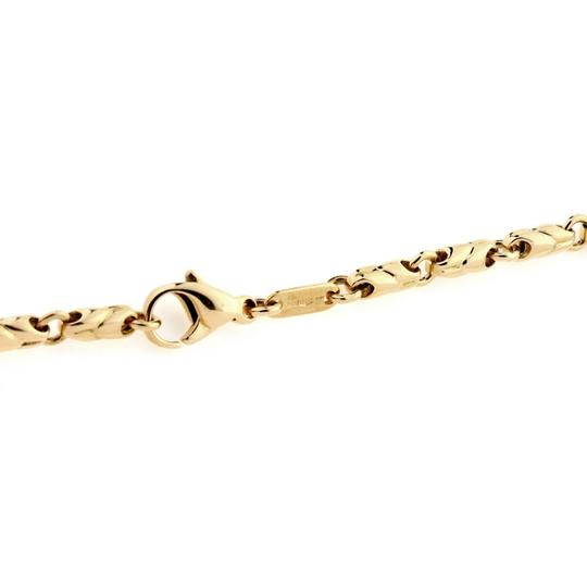 BVLGARI 18k Yellow Gold 3.5mm Fancy Link Chain Necklace Image 4