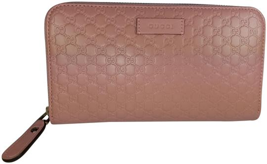 Preload https://img-static.tradesy.com/item/26031936/gucci-light-pink-womens-449391-leather-micro-gg-guccissima-zip-around-wallet-0-2-540-540.jpg