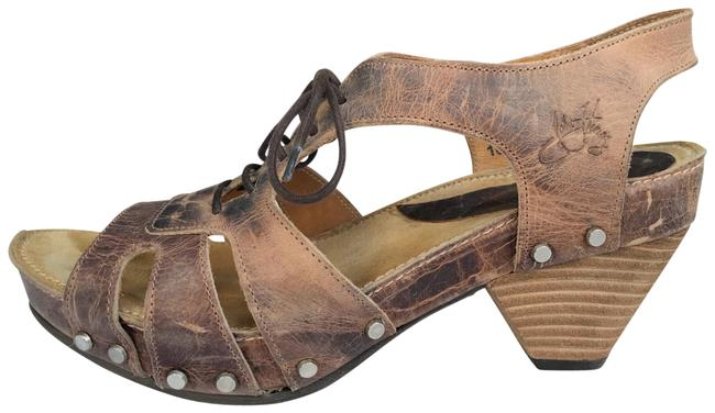 Item - Brown / Sand Joni Low Rules Open Wedges Size US 8.5 Regular (M, B)