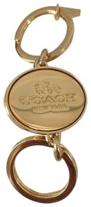 Coach COACH VALET Key Fob Ring Chain TWO IN ONE TURNLOCK You Pick w BOX