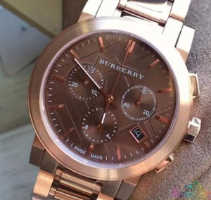 Burberry New BU9754 Burberry The City Rose Gold-Tone Unisex Watch
