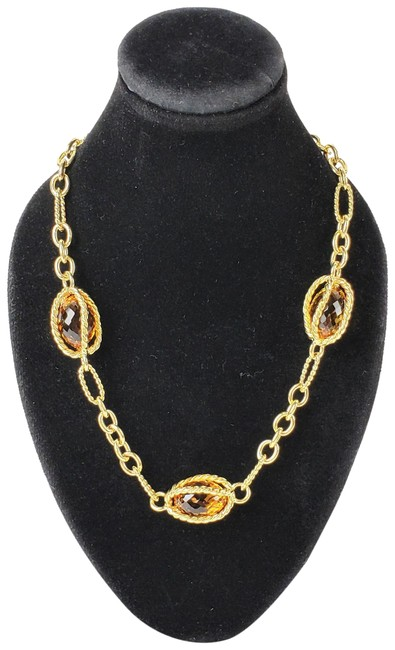 Item - Yellow Gold 18kt Citrine Briolettes Toggle Necklace