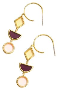 Madewell madewell stained glass drop hoop earring