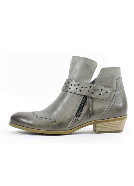 Item - Grey Denice Cuoio Lea Boots/Booties Size US 7 Regular (M, B)