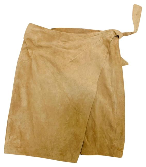 Item - Chestnut Suede Wrap Skirt Size 6 (S, 28)