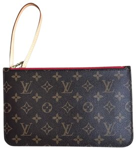 Louis Vuitton Wristlet in Brown, Red