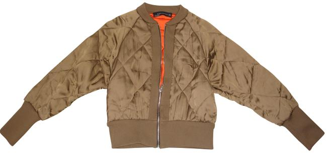 Item - Brown Quilted Cropped Bomber Coat Size 2 (XS)