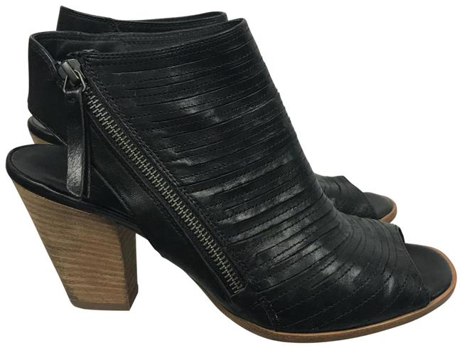 Item - Black Cayanne Leather Peep Boots/Booties Size US 10 Regular (M, B)