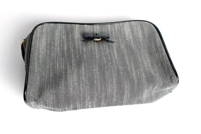 Item - Cosmetic Pouch Gray Canvas Baguette