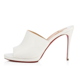 Christian Louboutin Heels Platform Pigamule Snow White Mules