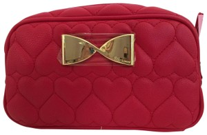Betsey Johnson BETSEY JOHNSON Cosmetic Bag LOAF RED Pouch Made Up Case