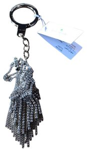 Kate Spade Gold-Tone & Clear Stones Horse Keyring