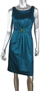 Eliza J Beaded Sheath Sleeveless Embellished Dress