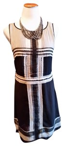 Studio M short dress Black, Cream,Gray on Tradesy