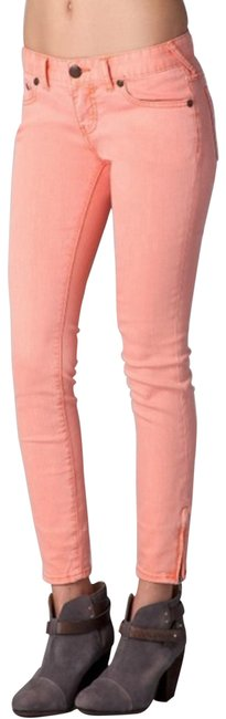 Item - Pink Ankle Zip Women's Skinny Jeans Size 27 (4, S)